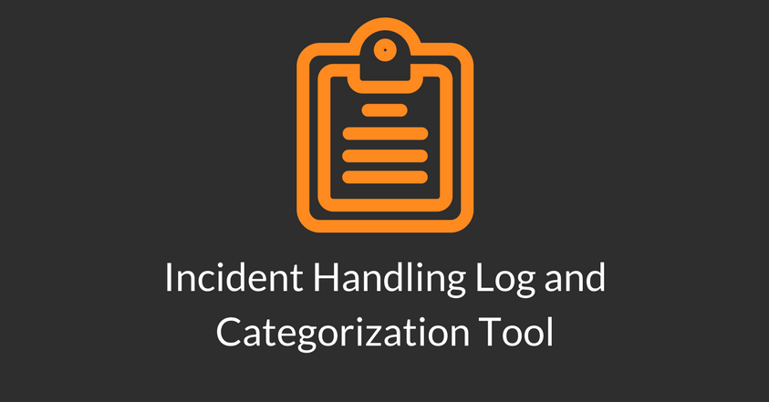 Incident Handling Log and Categorization Tool.png